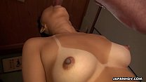 Japanese darling, Tomoyo Isumi fucks a guy, uncensored