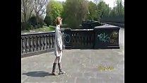 Nina flashing in public 5