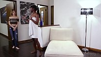 Kristen can't refuse the ebony beauty Ana Foxxx