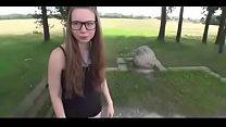 Deutsches Teen Mit Brille Fickt Draussen  - jetztfickmich.com