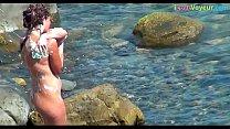 NUDIST Amateur Beach Spy Washing Her Nude Body thumbnail