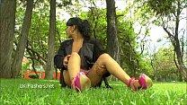 Amateur latina Beatriz flashing and public masturbation of nude exotic southern