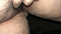 White bbw babe pisses and rubs her clit outside thumbnail