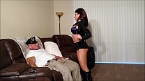 My hot sister in a cop costume gets creampied image