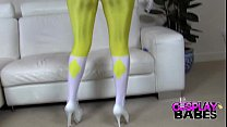Cosplay Huge titted Power Ranger