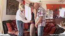 19962 His GF lured into family threesome preview