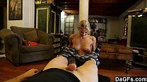 Nice girl scarlet having good sex in living room Image