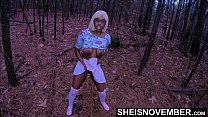 4K Cornered For Debauched Sex, My Nerd Step Daughter Msnovember Cornered In The Forest , Public Ebony Rough Riding POV & Crawling With Juggs Out On Sheisnovember