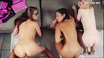 Three hot HS girls fucked by foreign guy
