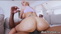 Curvy Assh Lee fondled before choking and BBC anal