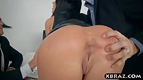 Wife double anal and double pussy fucked at a dinner party Preview