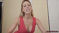 Blonde milf job interview and sperm swallow Cherie Deville in