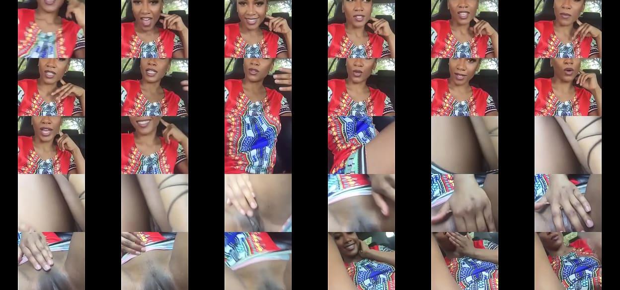 Ebony Rubbing Pussy Public