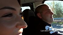 9625 Three teen hitchhikers banging in public preview