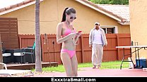 ExxxtraSmall - Perky Spinner (Carolina Sweets) Gets Fucked By Swimming Coach