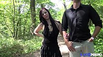 Angela caught double in the woods, in front of the voyeurs [Full Video]