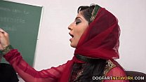 Nadia Ali Learns To Handle A Bunch Of Black Cocks Image