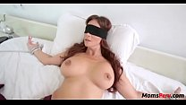 Perv son fucks mom's mouth when shes blindfolded! preview image