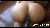 Butt of girl is screwed