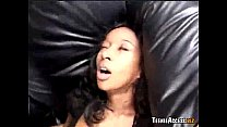 Black girl swallows all of his warm cum