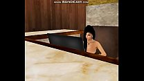 Sexy Hotel Receptionist Silvy is fucked by The Bonez