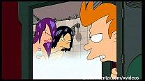 Futurama Hentai - Shower threesome