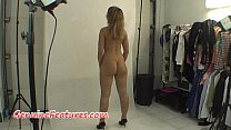 Real czech amateur blonde in backstage clip