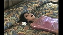 Asian whore tied up and wrapped gets tickled on her slutty feet.WMV