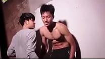 Asian hot boy gutpunch