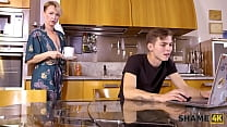 SHAME4K. Mature blonde didnt expect her friends son to be so pervy