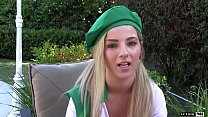 Bella Rose is a horny blonde scout with some sweet pink nookie