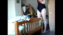Watch my fully nude cute mom inserting tampon. Hidden cam