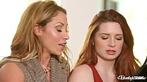 Busty Lesbians Eva Notty & Veronica Vain lick w...