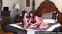 Young Latina And Older Woman In Hot Webcam Show