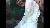 7474 an exciting and beautiful NERDY with stockings and diaper ... and air in the tummy preview