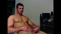 Blond man Jerking