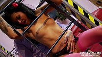 brunette stacy enoys a thriling doggystyle fuck on the couch