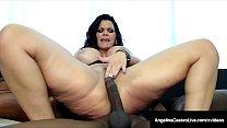 Curvy Cuban BBW Angelina Castro Spreads Cheeks For Dark Dick