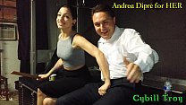 Mistress Cybill Troy squeezes Andrea Diprè's balls
