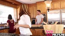 Horny cougar Raquel bangs with Penelope and bf