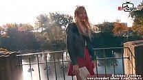 Blonde skinny prostitute pick up on street EroC...