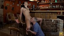 DADDY4K. Daddy invites son and his GF to the ba...