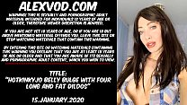 Download video bokep Hotkinkyjo belly bulge with four long and fat d... 3gp terbaru