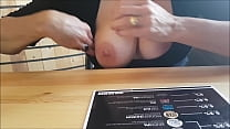tits out in pub