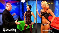 Brunette Aymie and blondie Cony loves to be used as dirty cum buckets
