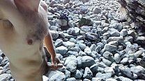 Handjob in the nudist beach. Pajote en playa nudista