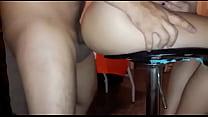 Comendo esposa loira gostosa na cadeira
