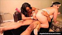 BBW Angelina Castro & Black Babe Kristi Maxx Banged By BBC!