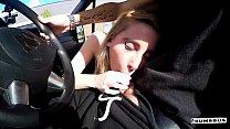 BUMS BUS - Petite blondie Lia Louise enjoys backseat fuck and facial in the van Vorschaubild