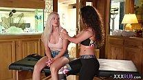 Hot big boobs lesbians massage and hard finger fucking thumbnail
